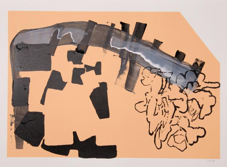Stephen A. Davis, Abstract, Acrylic and Silkscreen Painting
