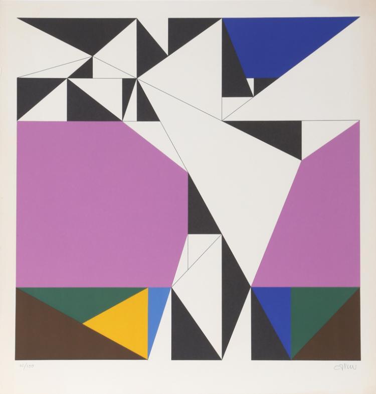 Walter Allner, untitled 1, Serigraph