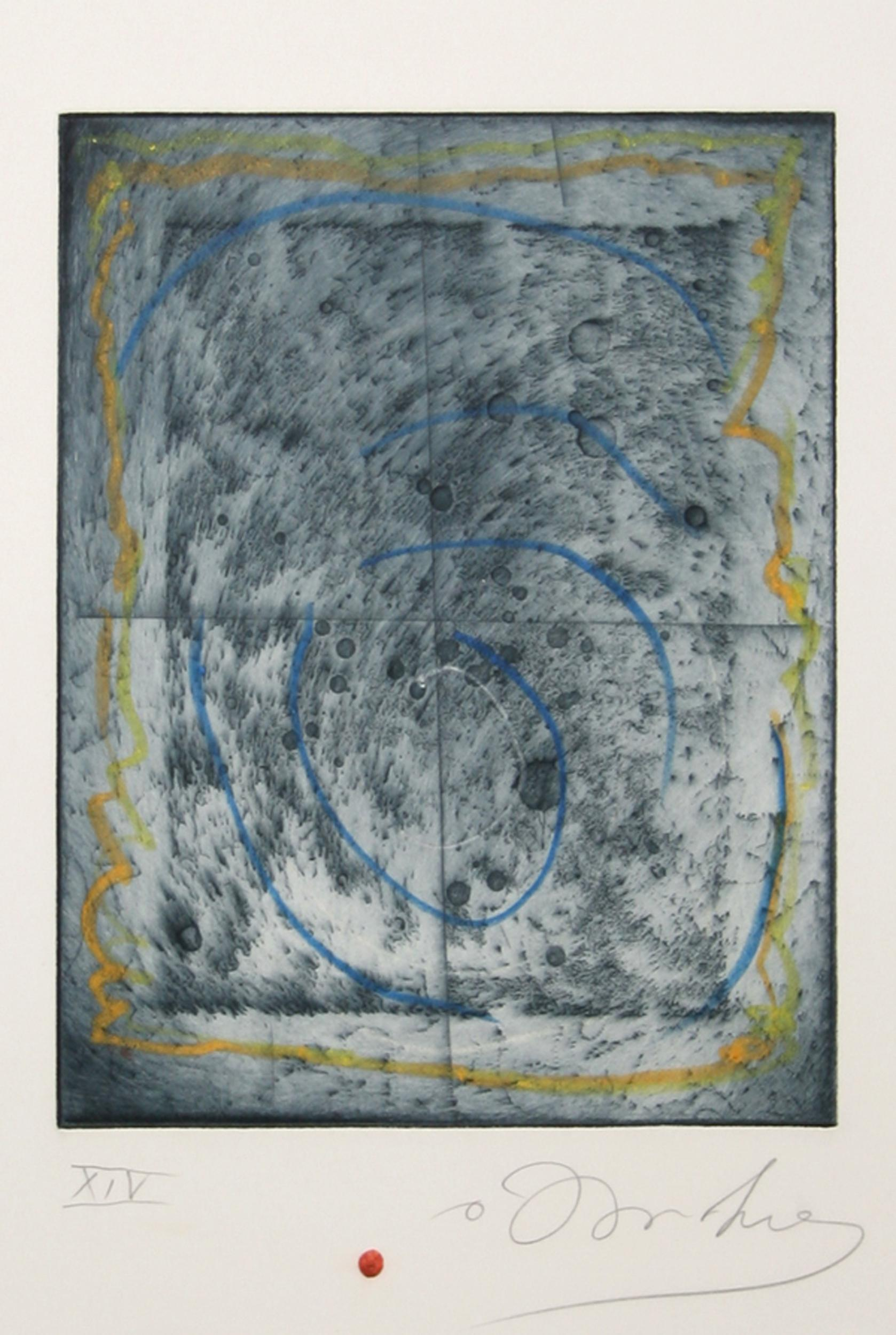 Tighe O'Donoghue, Lunar Abstract, Aquatint Etching