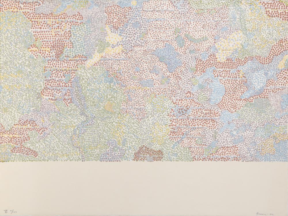 Nancy Stevenson Graves, Lunar Landscape VI, Lithograph