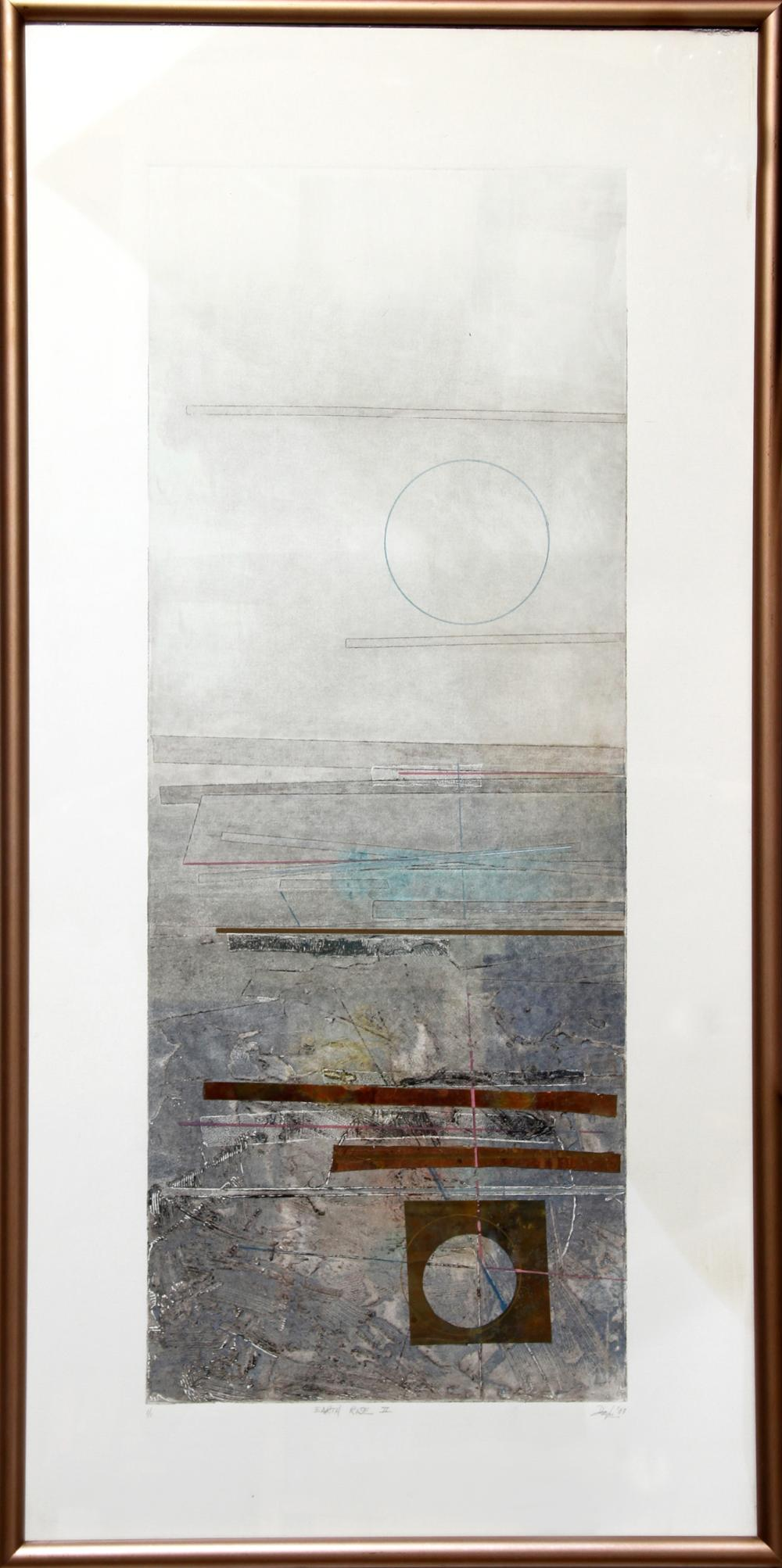 Robert Alan Devoe, Earth Rise II, Monoprint