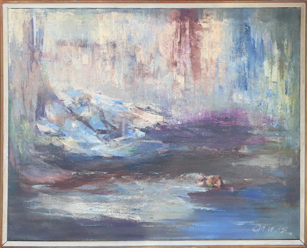 Grande, Abstract Seascape, Oil Painting