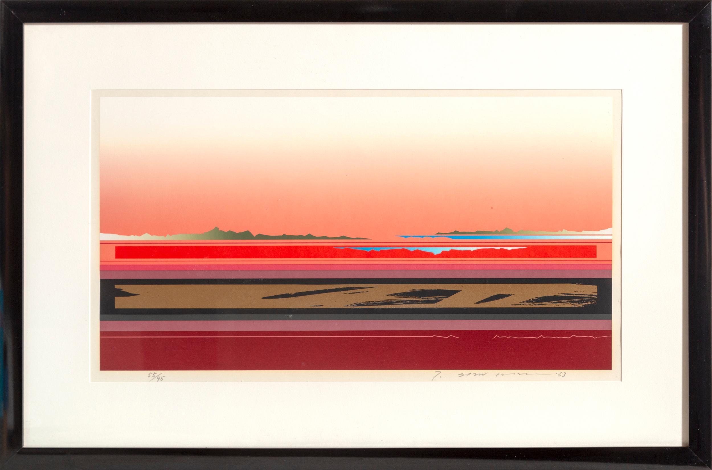 Tetsuro Sawada, Red Horizon, Screenprint