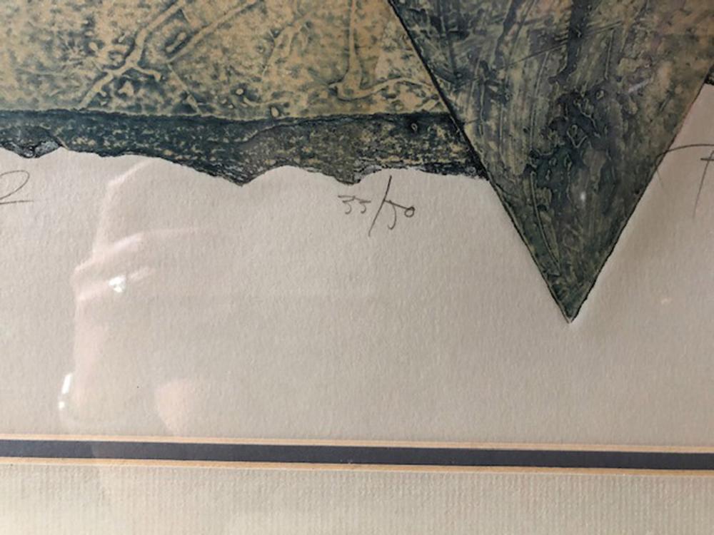 Bill Wheeler, Aeolian Harp 2, Collagraph