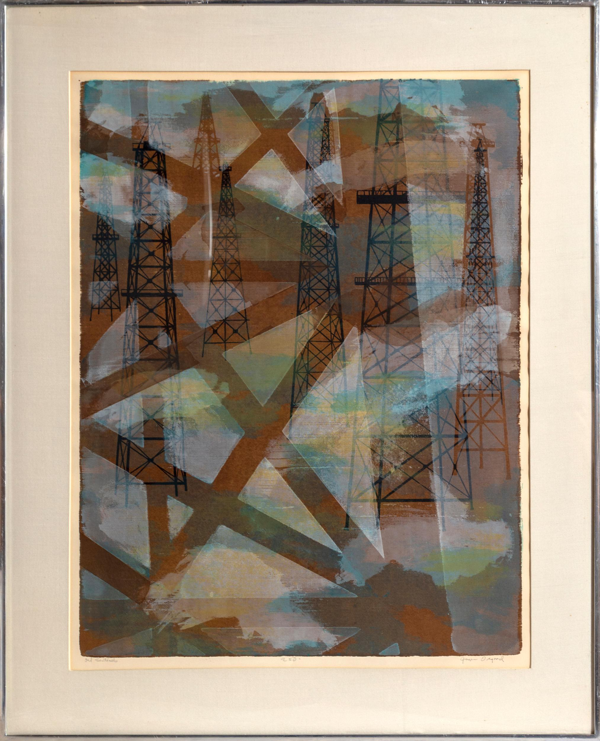 Ginger Osgood, Oil Sentinels, Screenprint