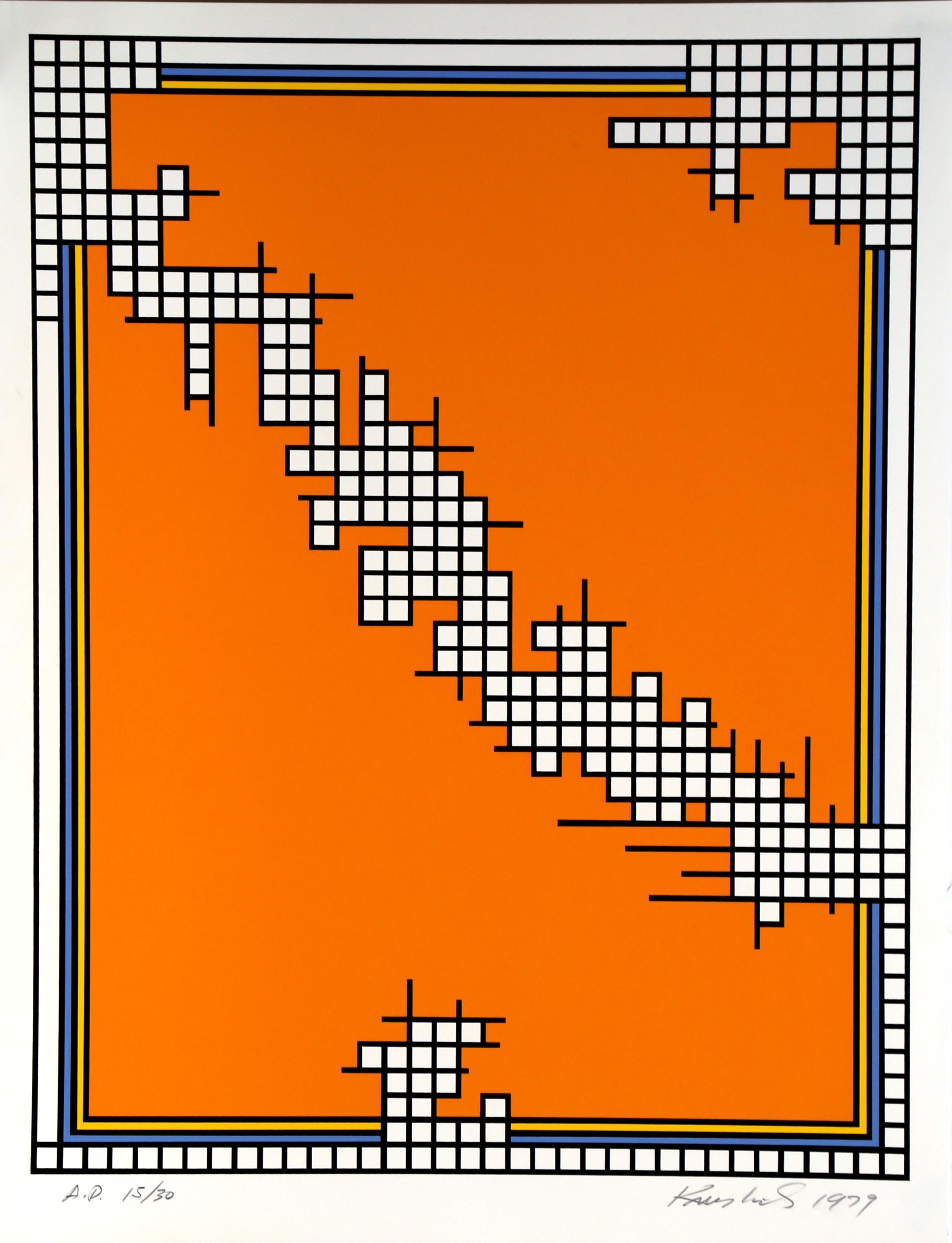 Nicholas Krushenick, Untitled (Wire Mill Variant), Serigraph
