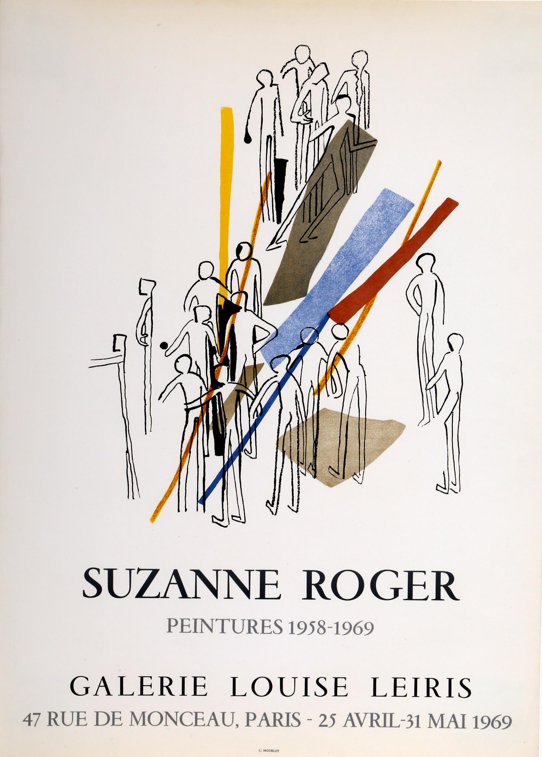 Suzanne Roger, Galerie Louise Leiris, Lithograph Poster
