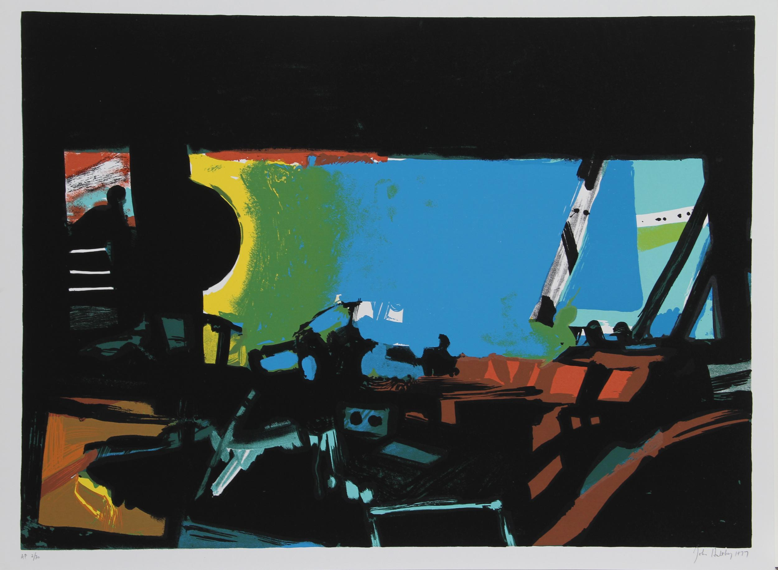 John Hultberg, Wide Window II, Silkscreen