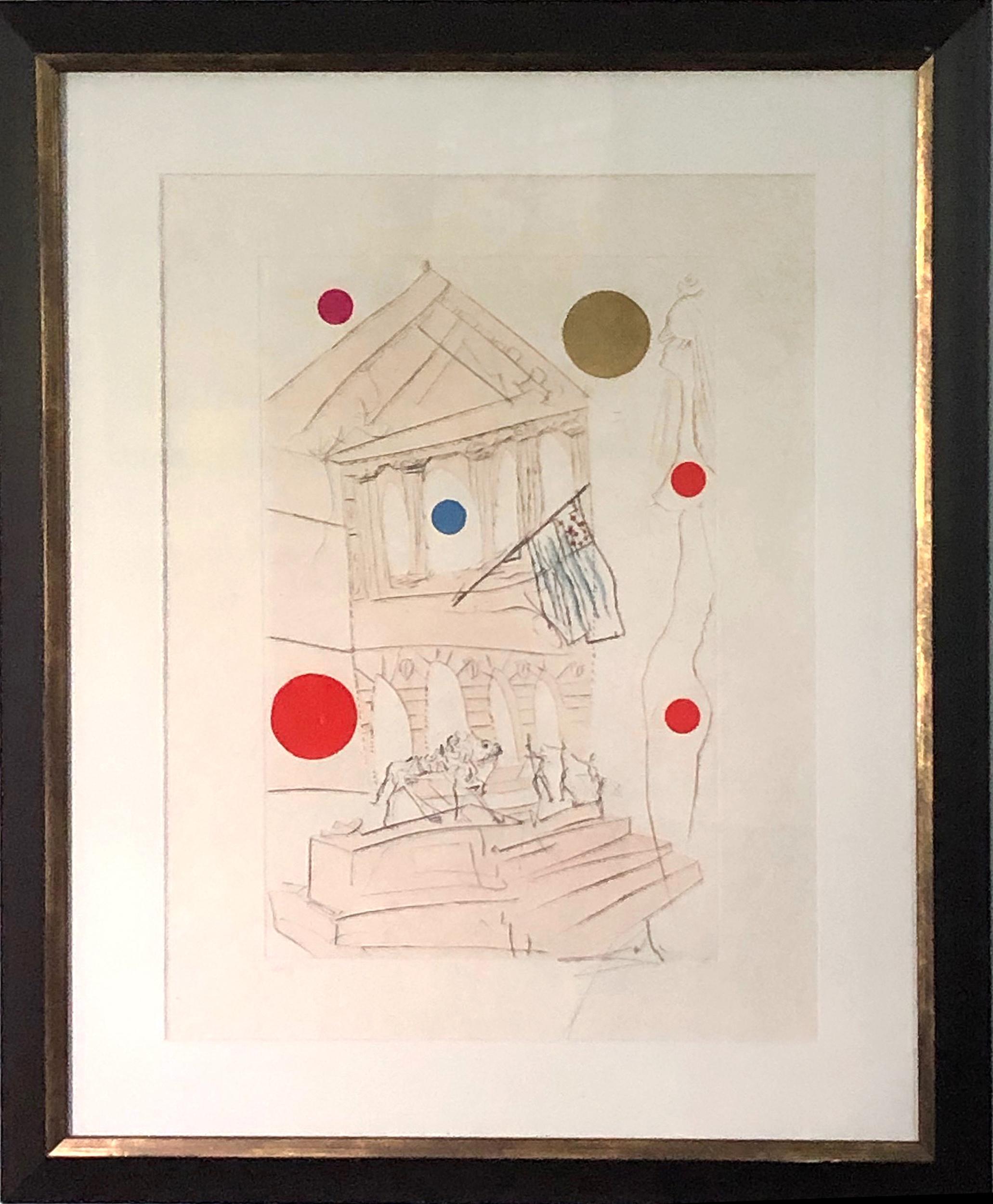 Salvador Dali, The Art Institute, Etching