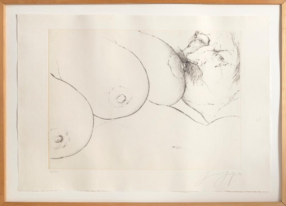Günter Grass, Three Breasts, Etching