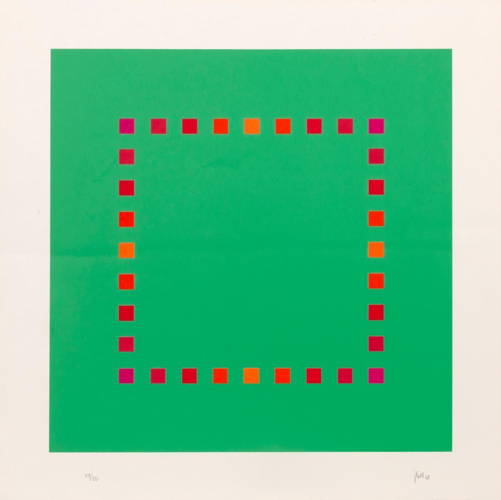 Jakob Bill, Green Square, Screenprint