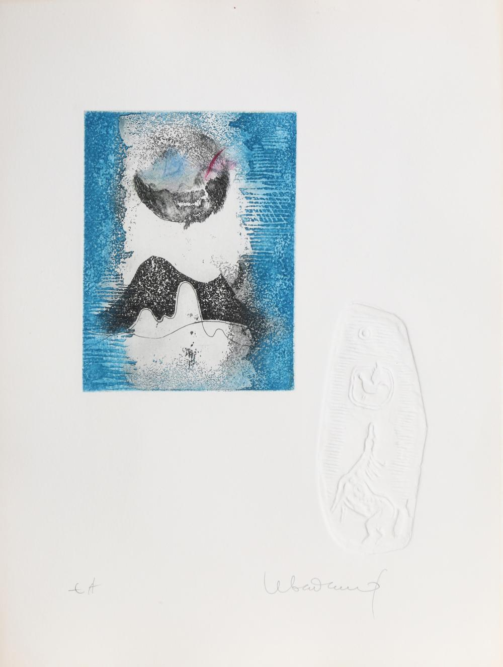 Lebadang, Volcano Moon, Etching with Relief