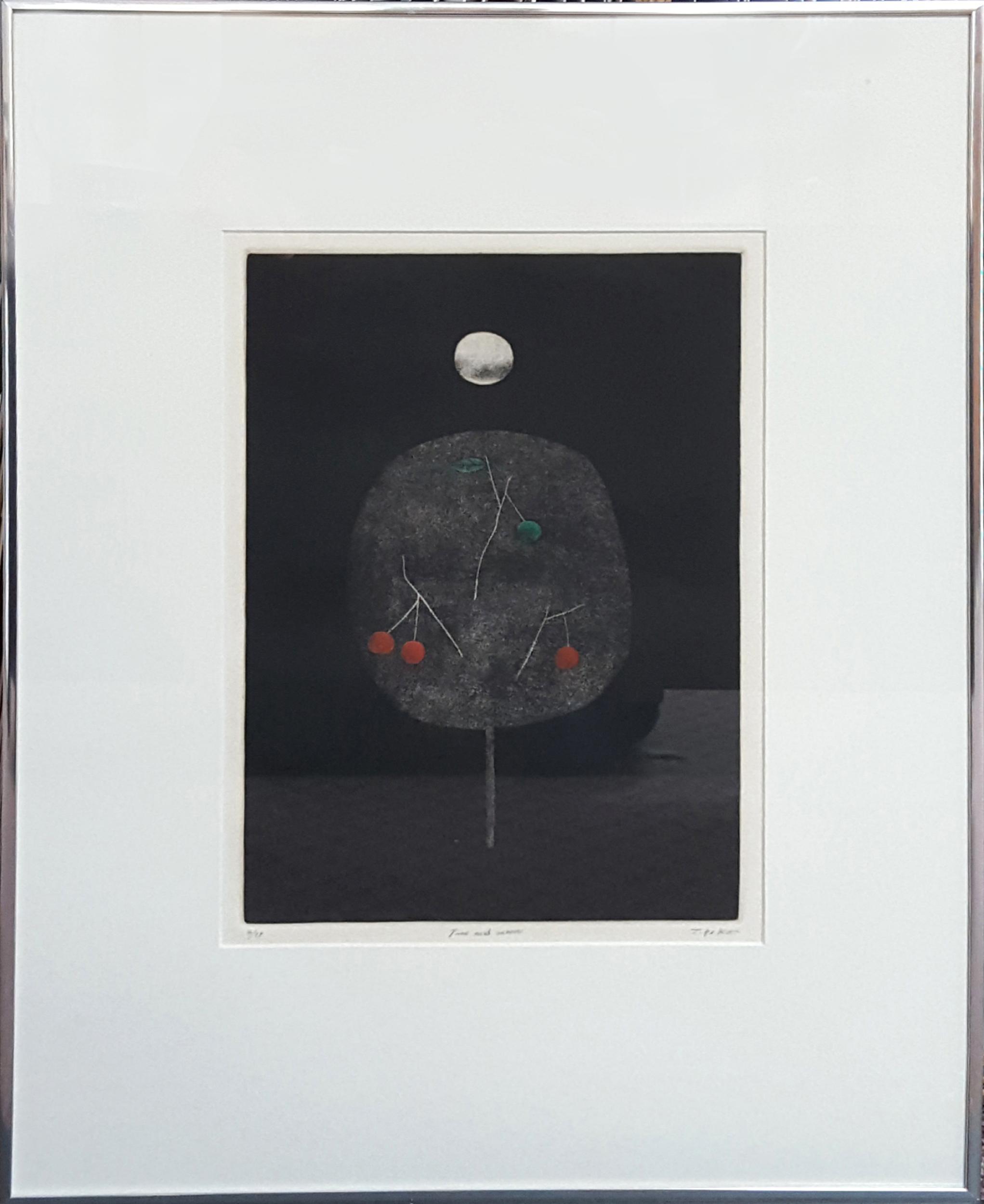 Tomoe Yokoi, Tree and Moon, Mezzotint