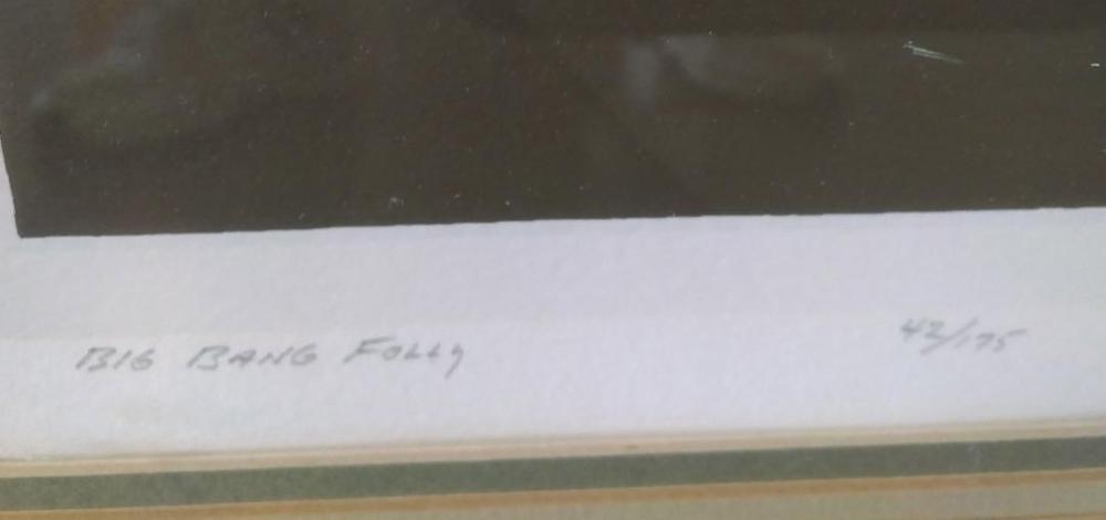 Richard Gilbert, Big Bang Folly, Serigraph