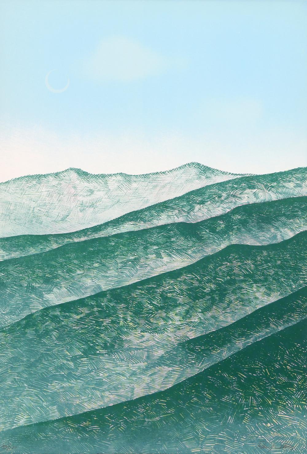 Raul Sanchez, The Hills, Lithograph