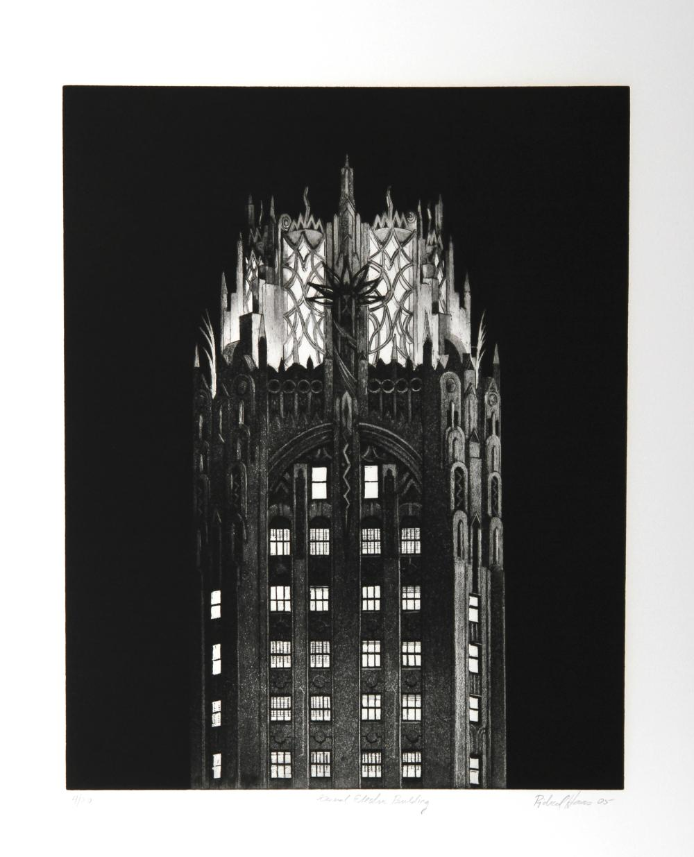 Richard Haas, General Electric Building, Etching
