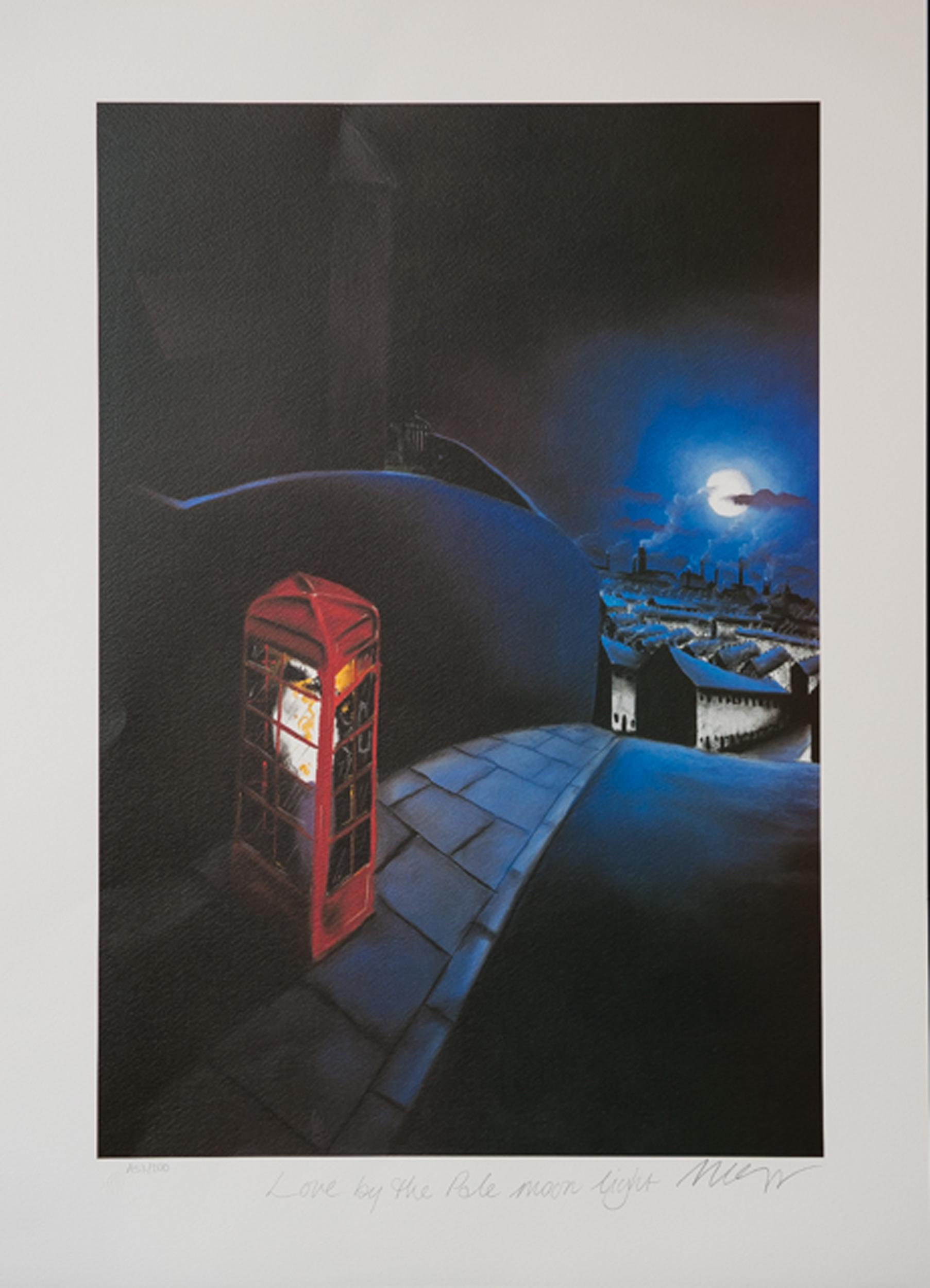 Mackenzie Thorpe, Love by the Pale Moon Light, Lithograph