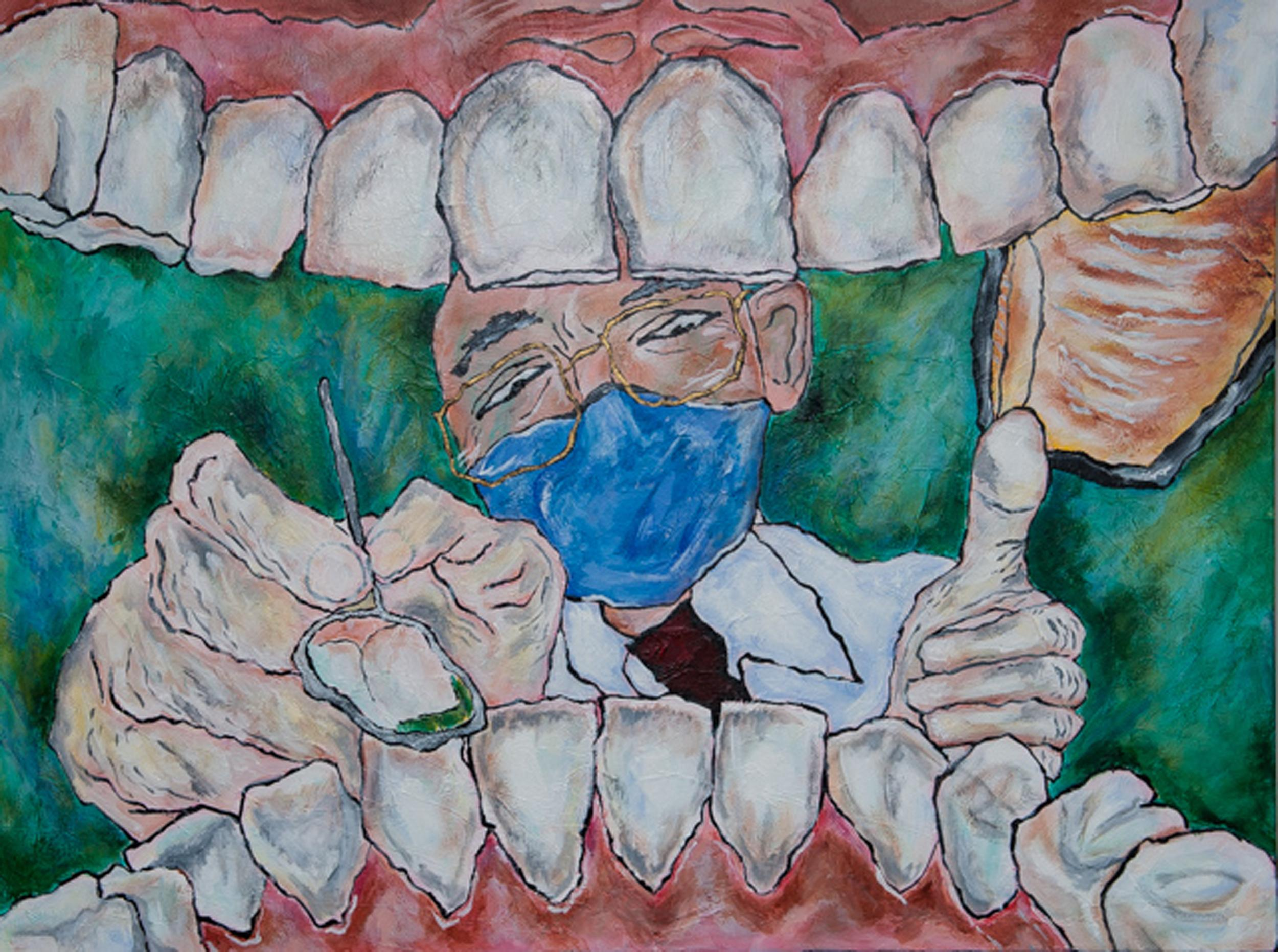 Barbara Riddle, Open Wide, Acrylic Painting