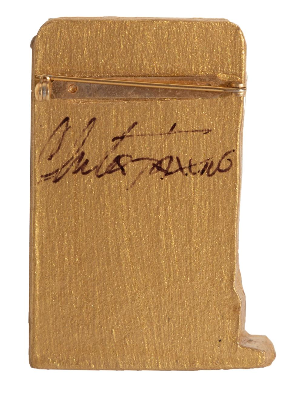 Charles Fazzino, Broadway - Times Square NYC, 3-D Jewelry Brooch Pin