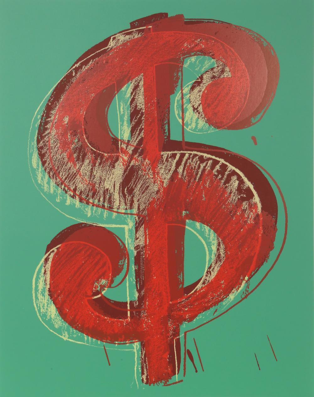 Andy Warhol, Dollar Sign (Green), Serigraph