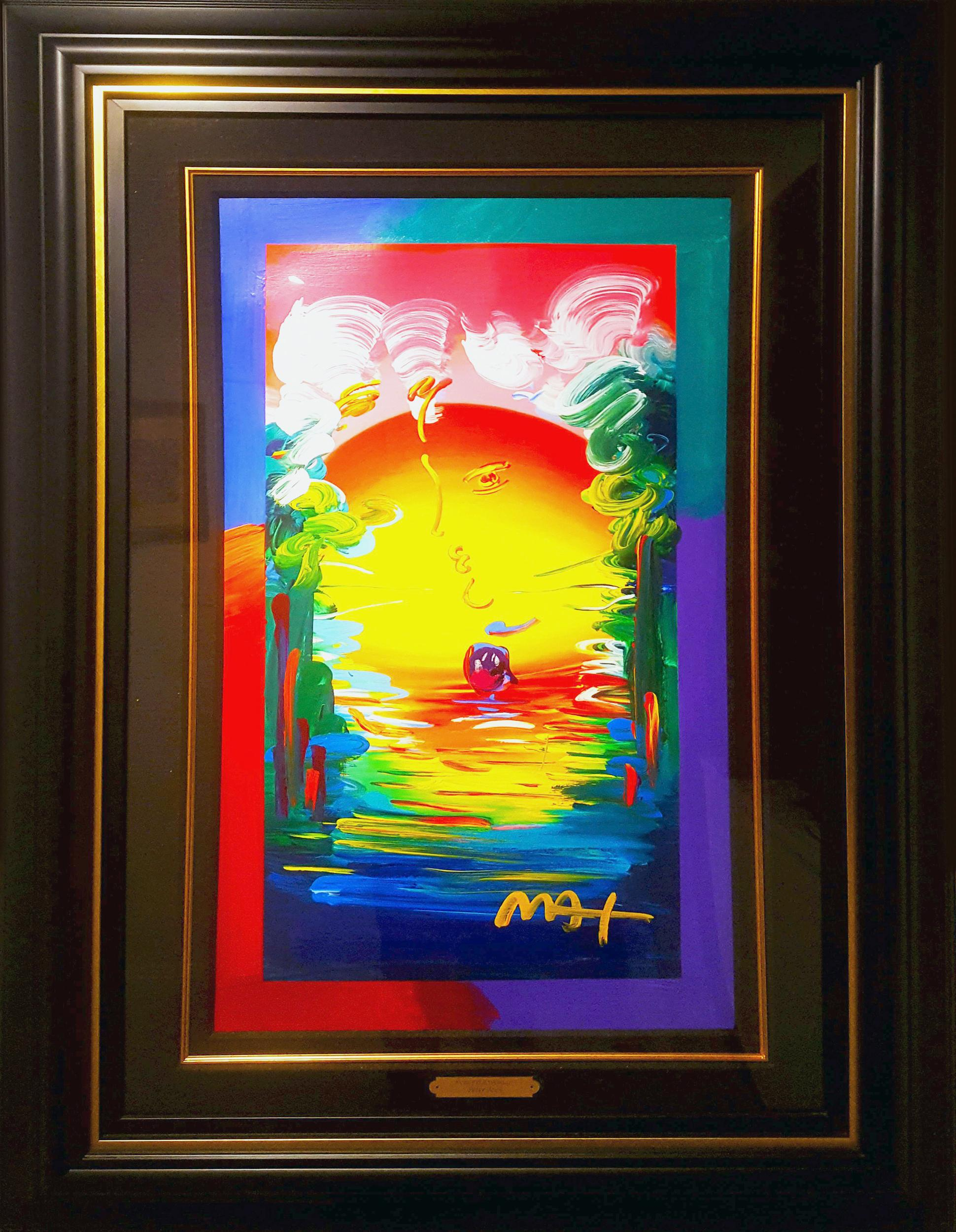 Peter Max, Better World, Mixed Media with Acrylic on Serigraph