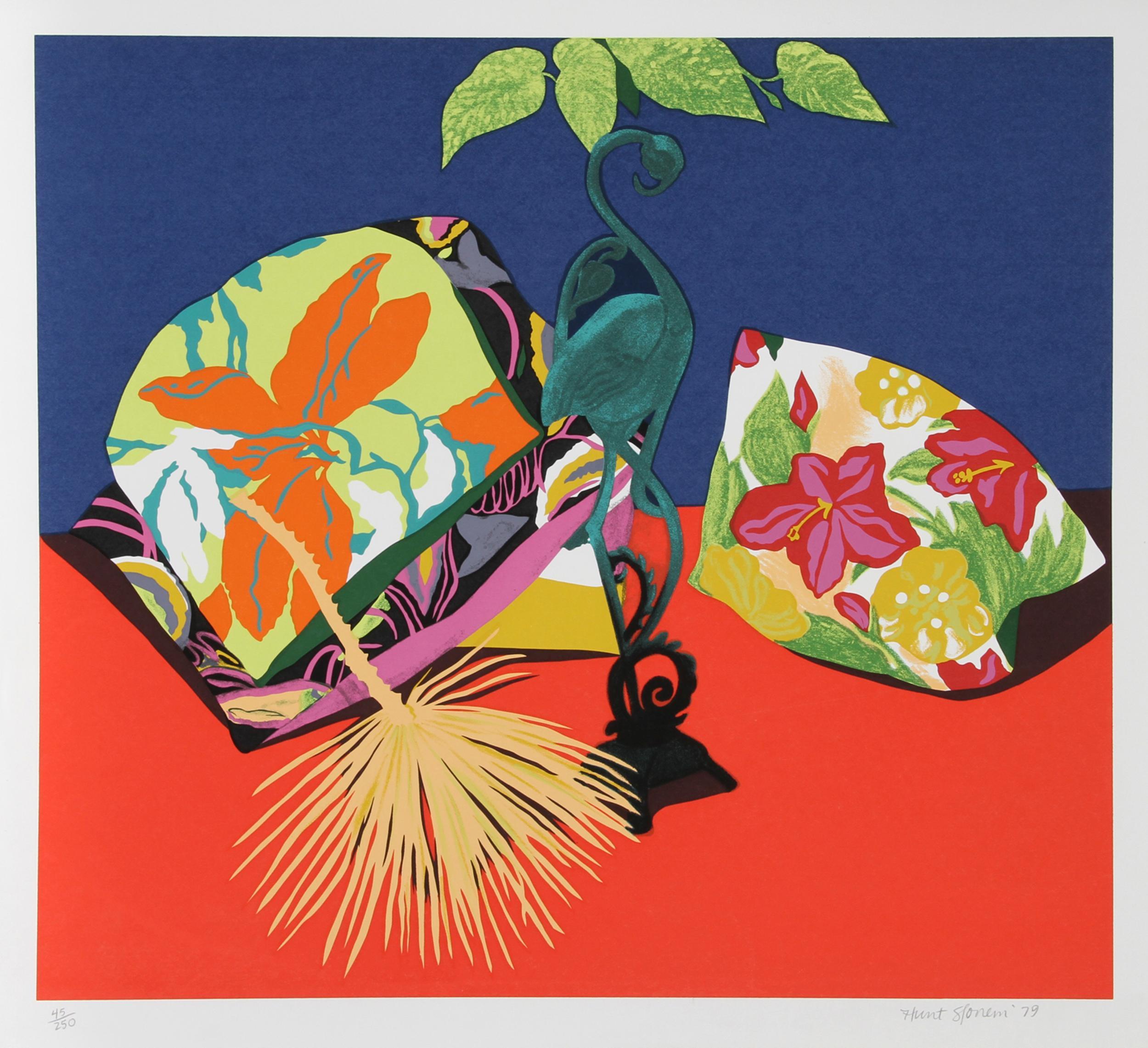 Hunt Slonem, Iron Flamingo, Serigraph