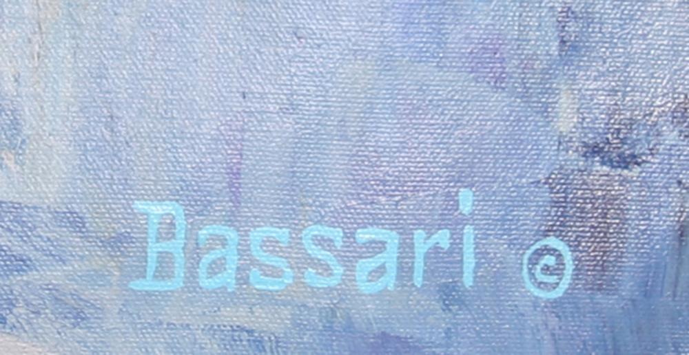 Bassari, Seaside Three Boats, Oil Painting