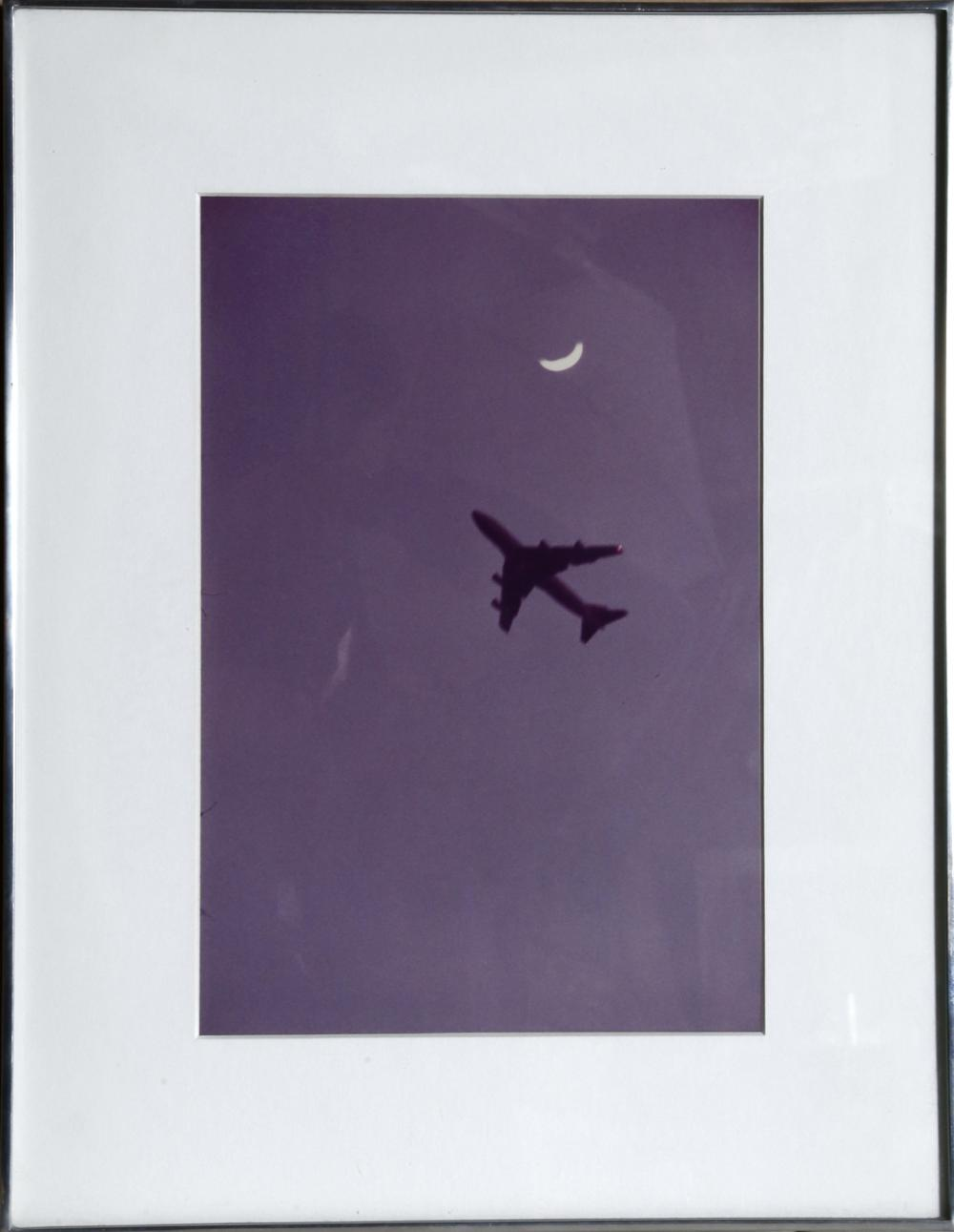 Alan Dennis, Jet and Moon, Color Photograph