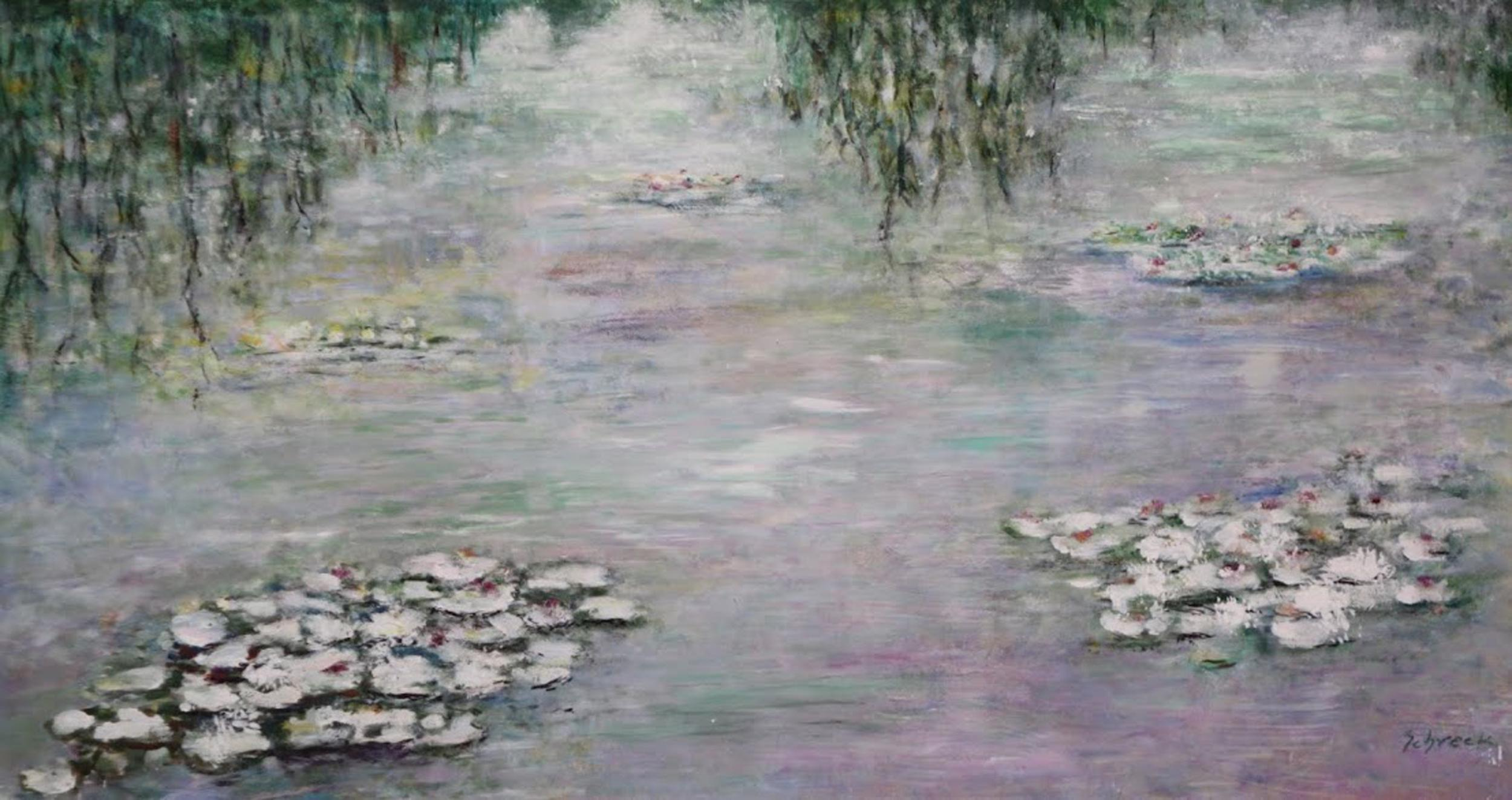 Michael Schreck, Waterlilies No. 1, Acrylic Painting