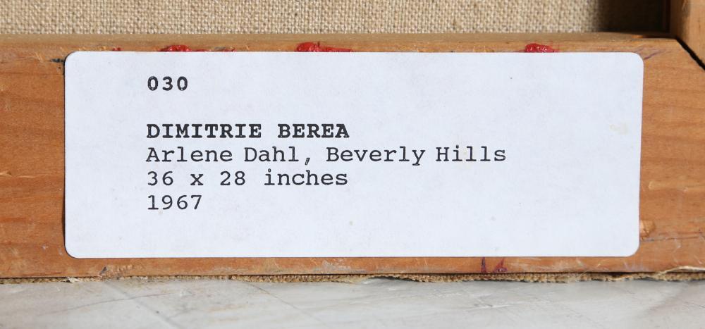 Dimitrie Berea, Arlene Dahl, Beverly Hills, Oil Painting