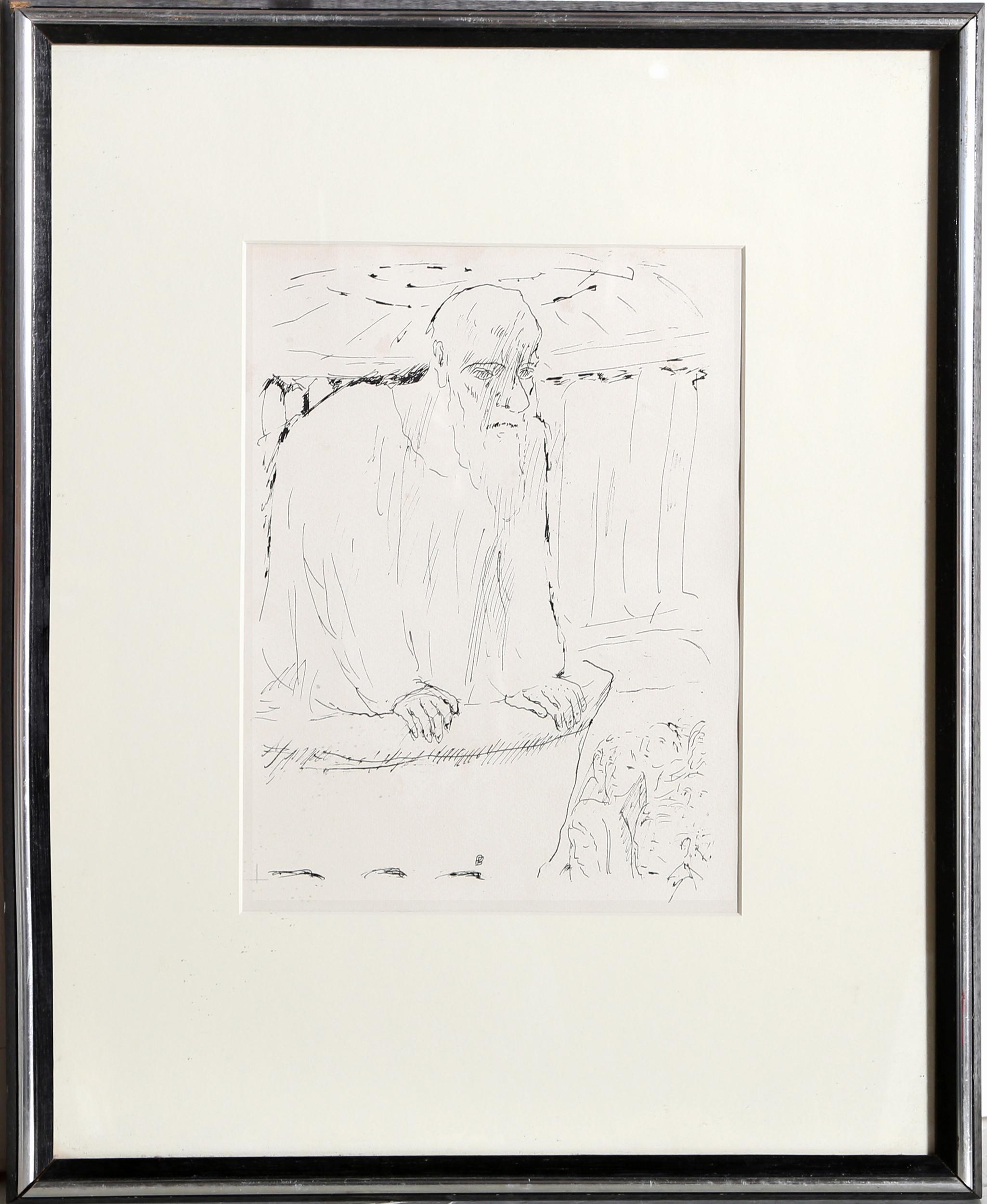 Pierre Bonnard, Old Wise Man, Lithograph