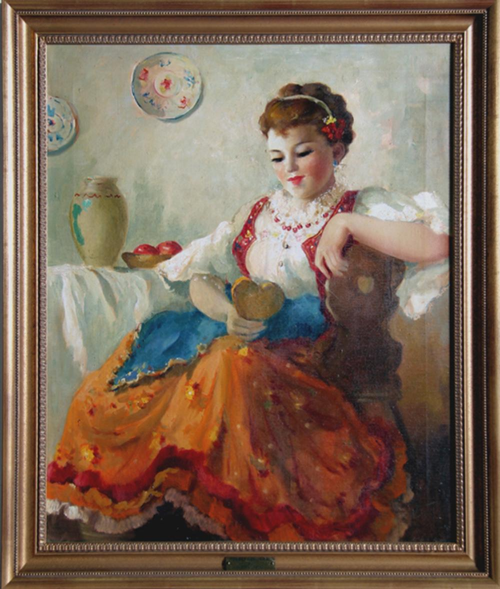 Violetta de Koszeghy, Sweet Memories, Oil Painting