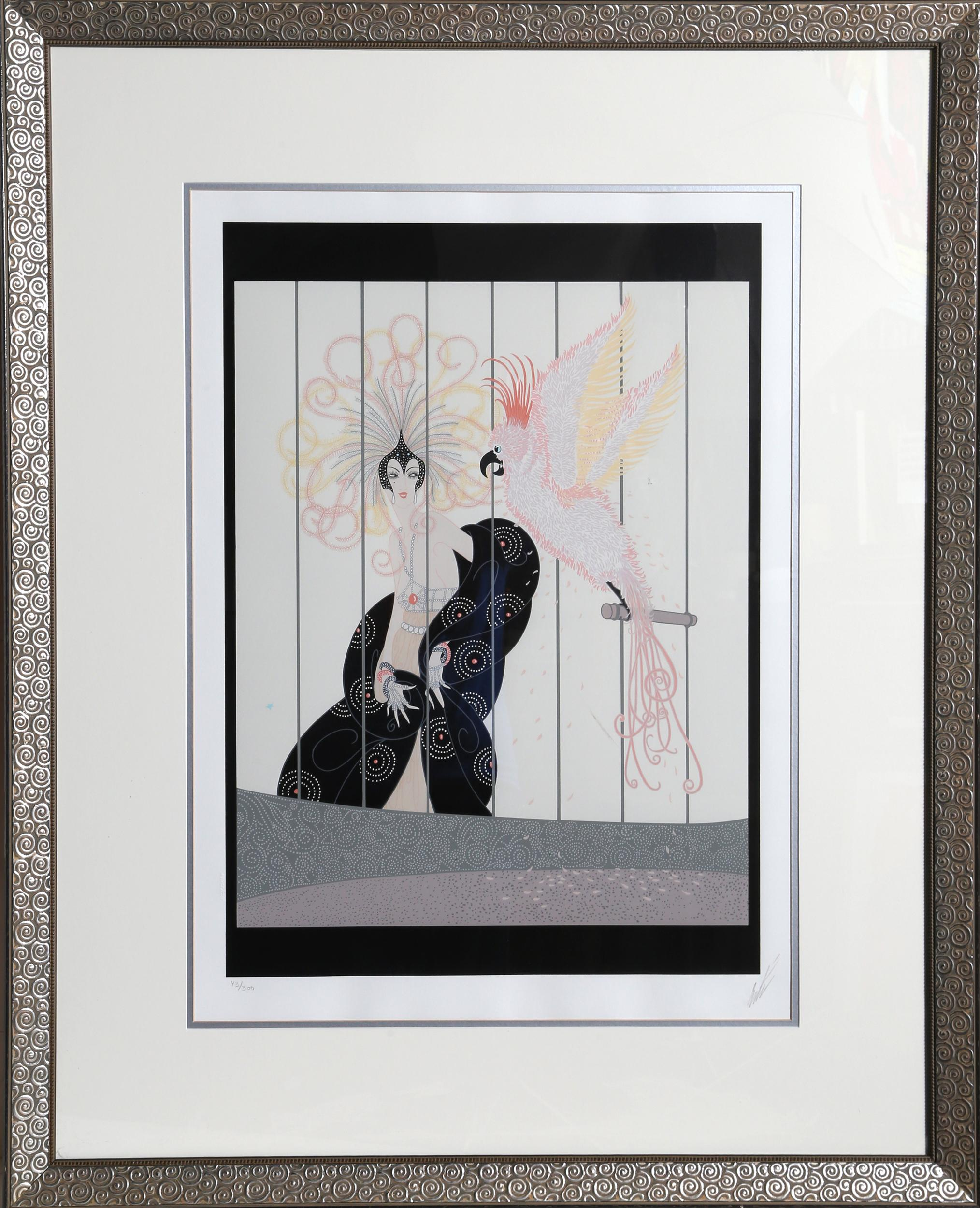 Erte, The Bird Cage, Serigraph