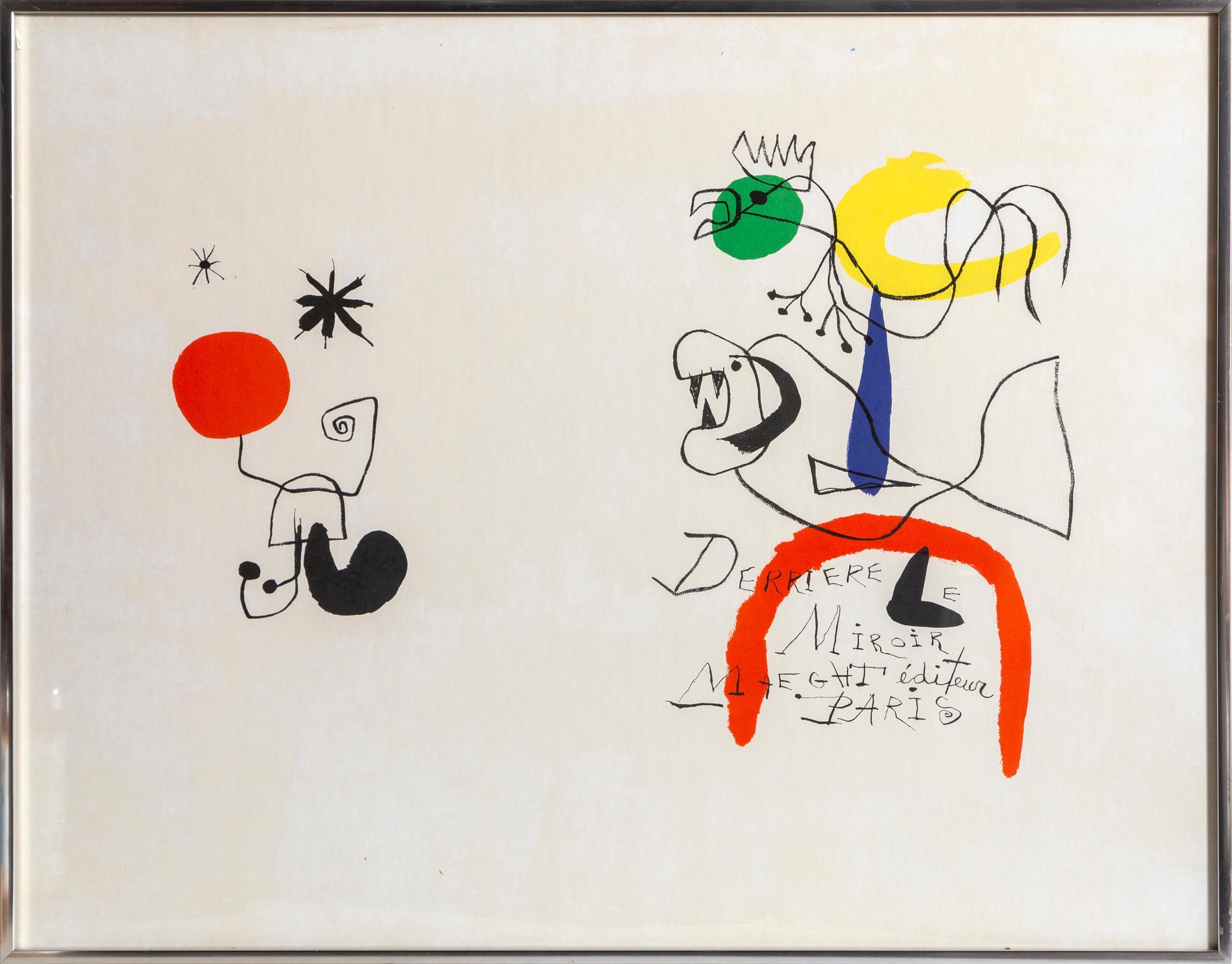 Joan Miro, Derrier le Miroir, Lithograph