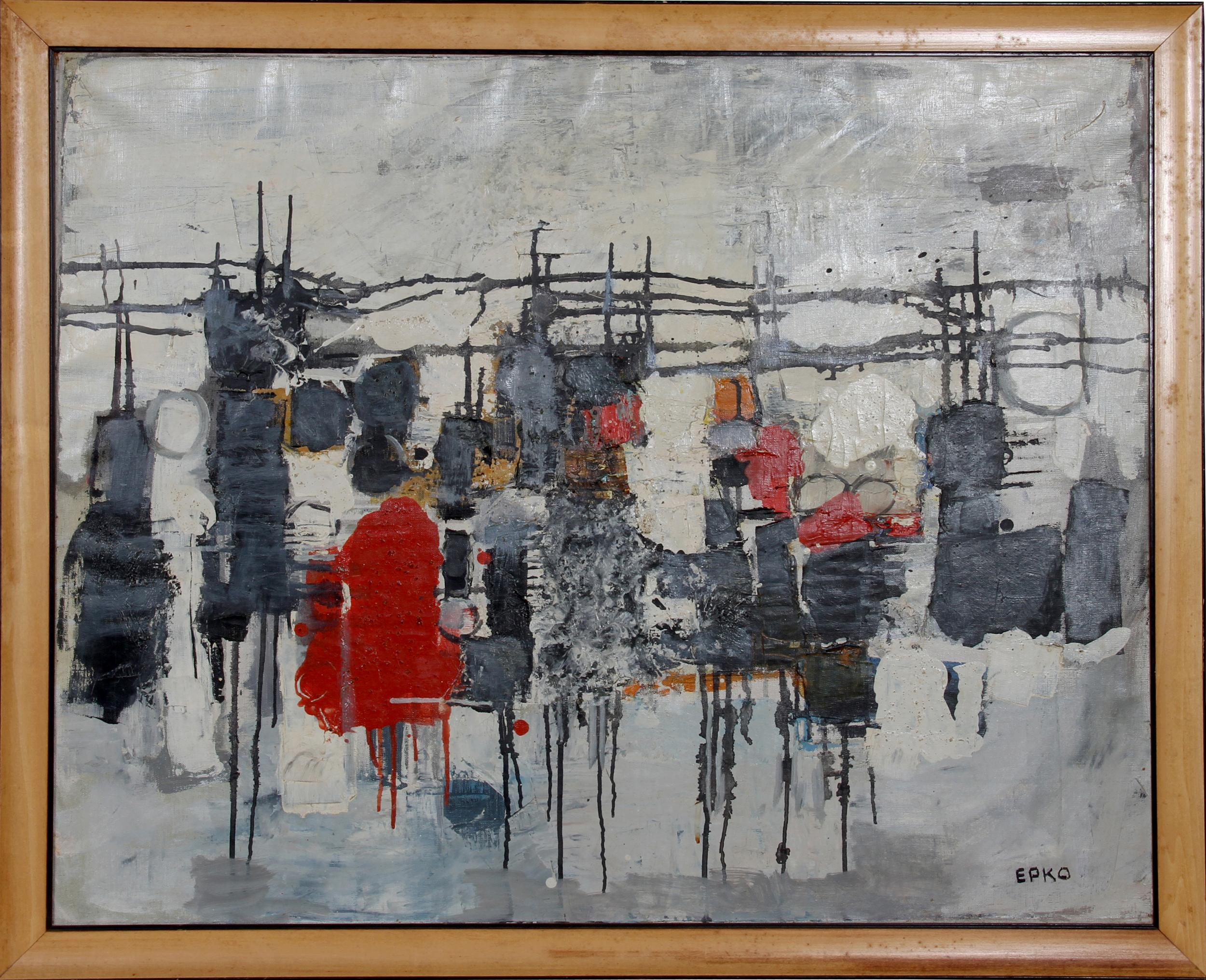 Willering Epko, Barbed Wire, Oil Painting