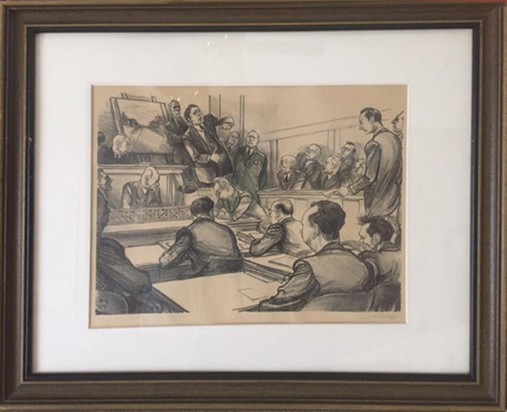 William Sharp, The Murder Incorporated Trial, Lithograph