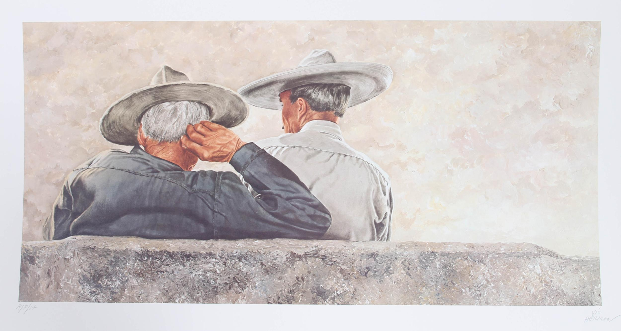 Vic Herman, Two Heads are Better Than One, Lithograph
