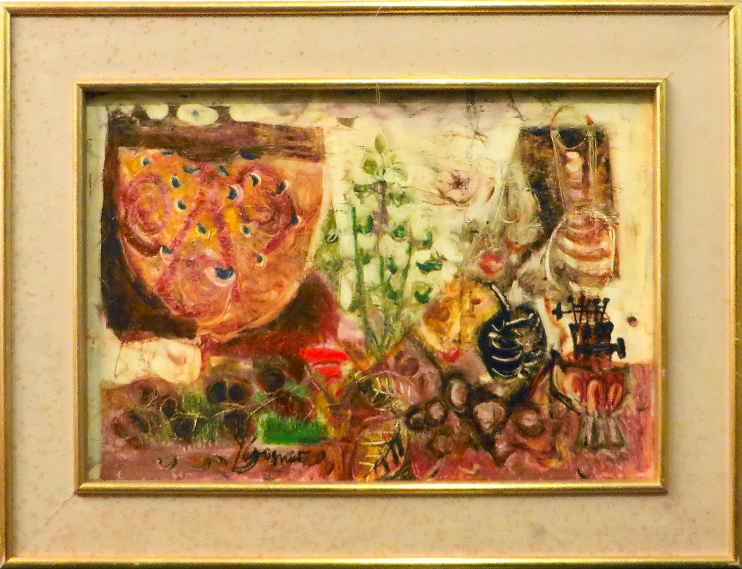 James Coignard, Still Life with Oil Lamp, Oil Painting
