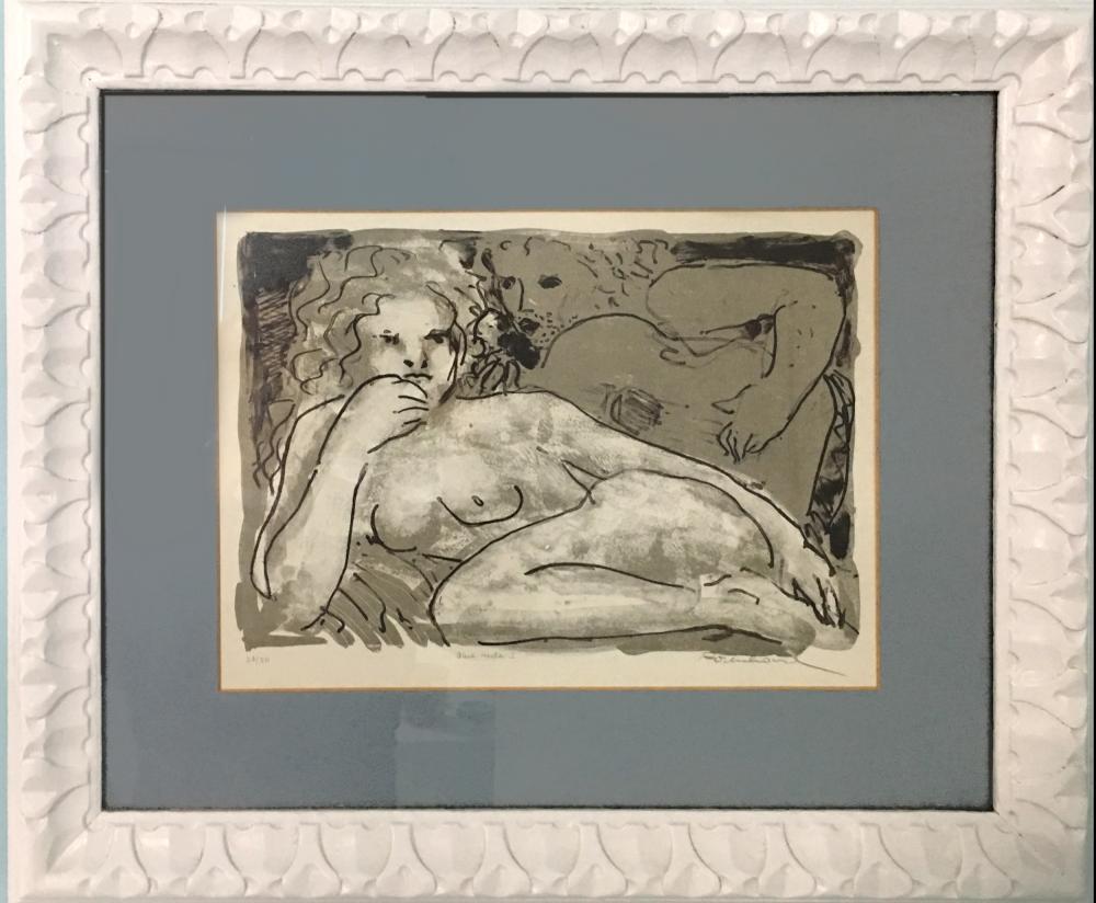 Irwin Rosenhouse, Blue Nude I, Lithograph