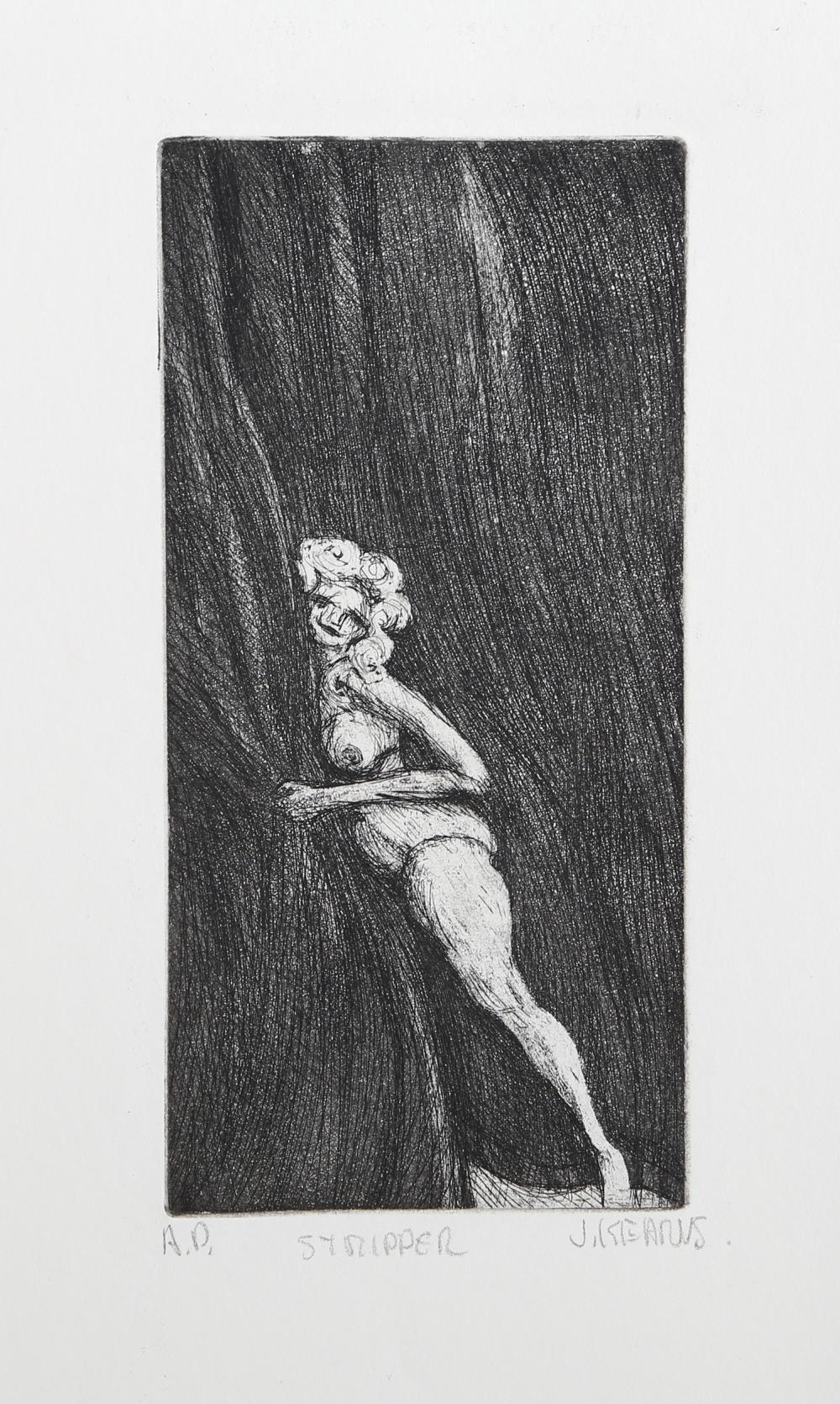 James Kearns, Stripper, Etching
