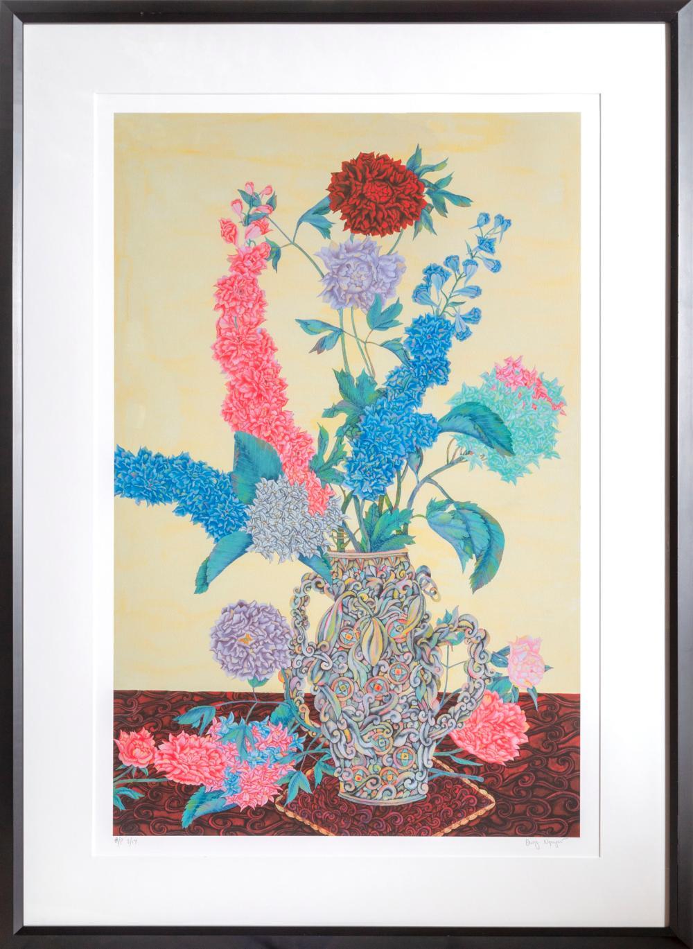 David Nguyen, Flowers 15, Lithograph