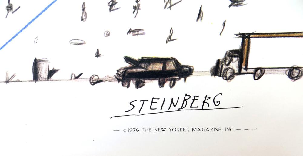 Saul Steinberg, View from the World from 9th Ave., The New Yorker, Poster