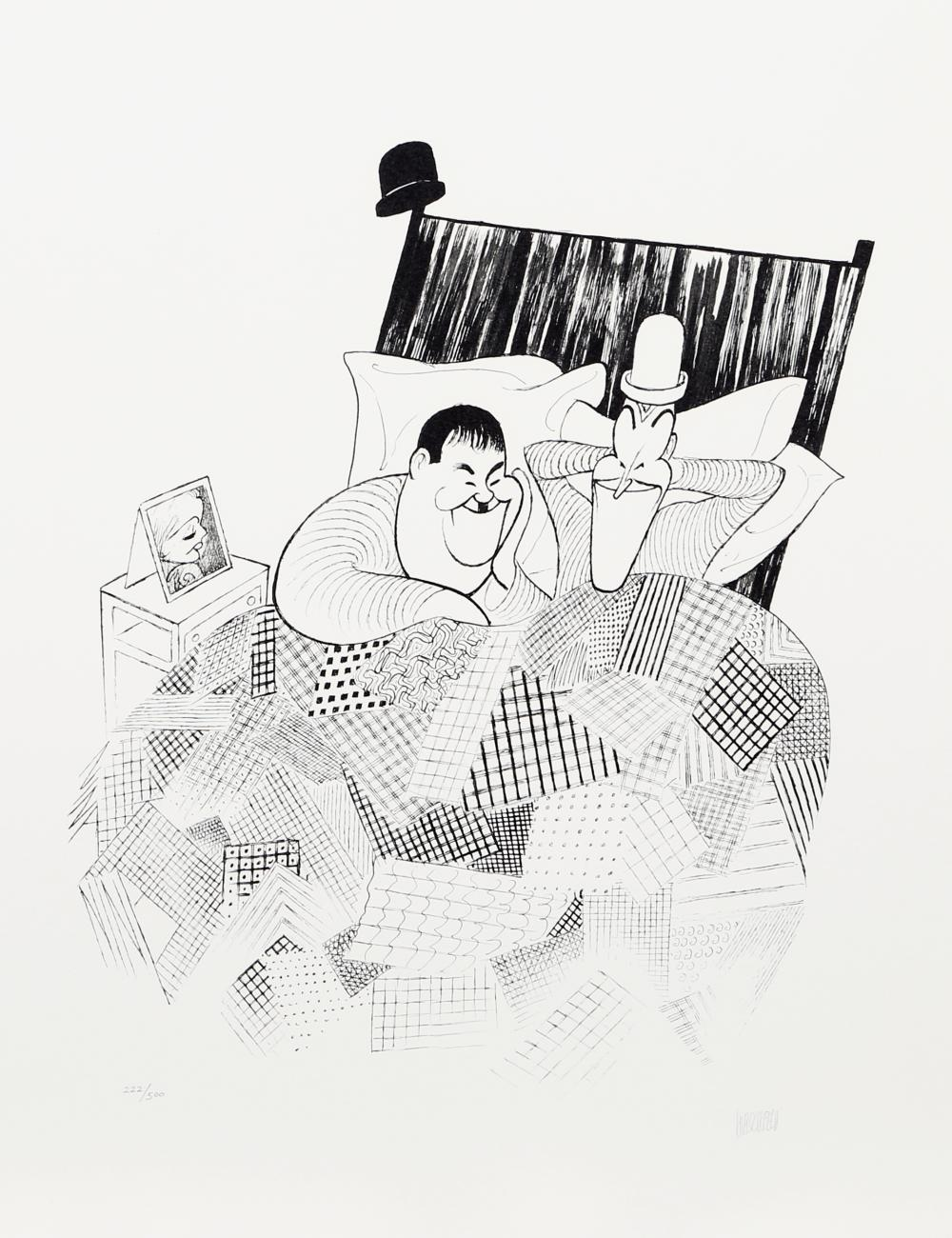 Al Hirschfeld, Laurel and Hardy (Sweet Dreams) from The March of the Wooden Soldiers, Lithograph