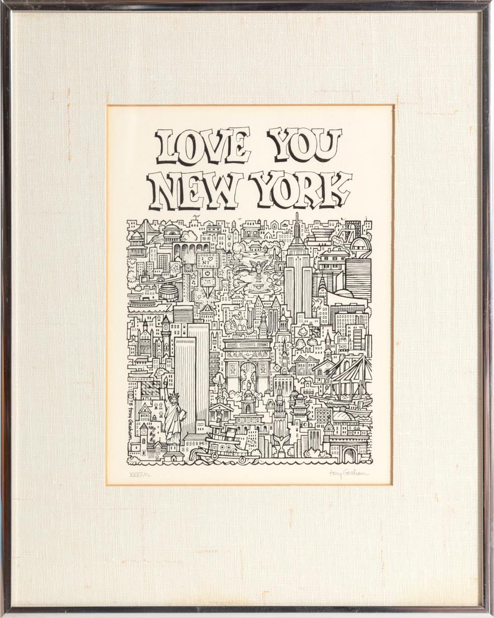 Tony Graham, Love You New York, Lithograph