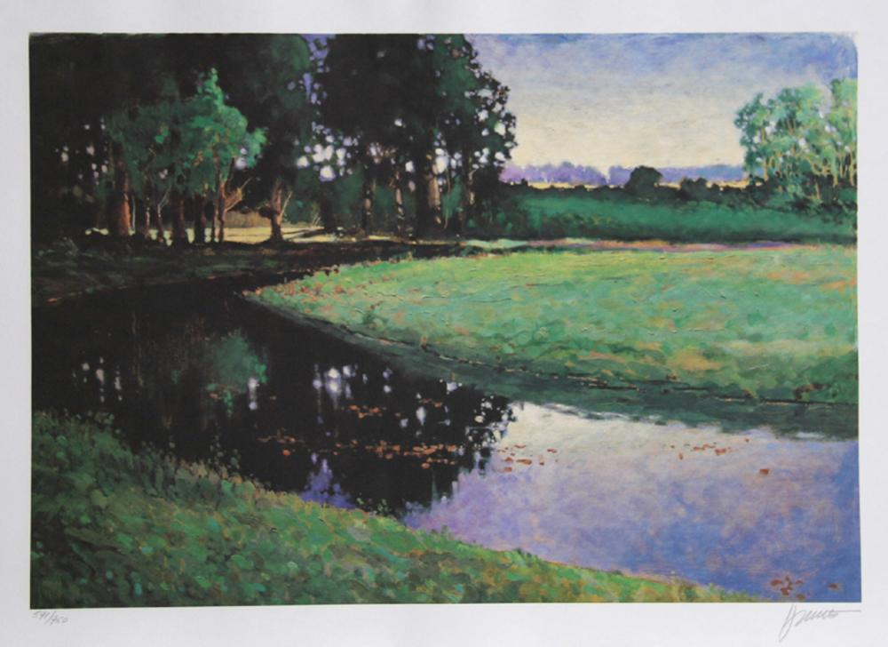 Max Hayslette, Big Clear Creek, Lithograph