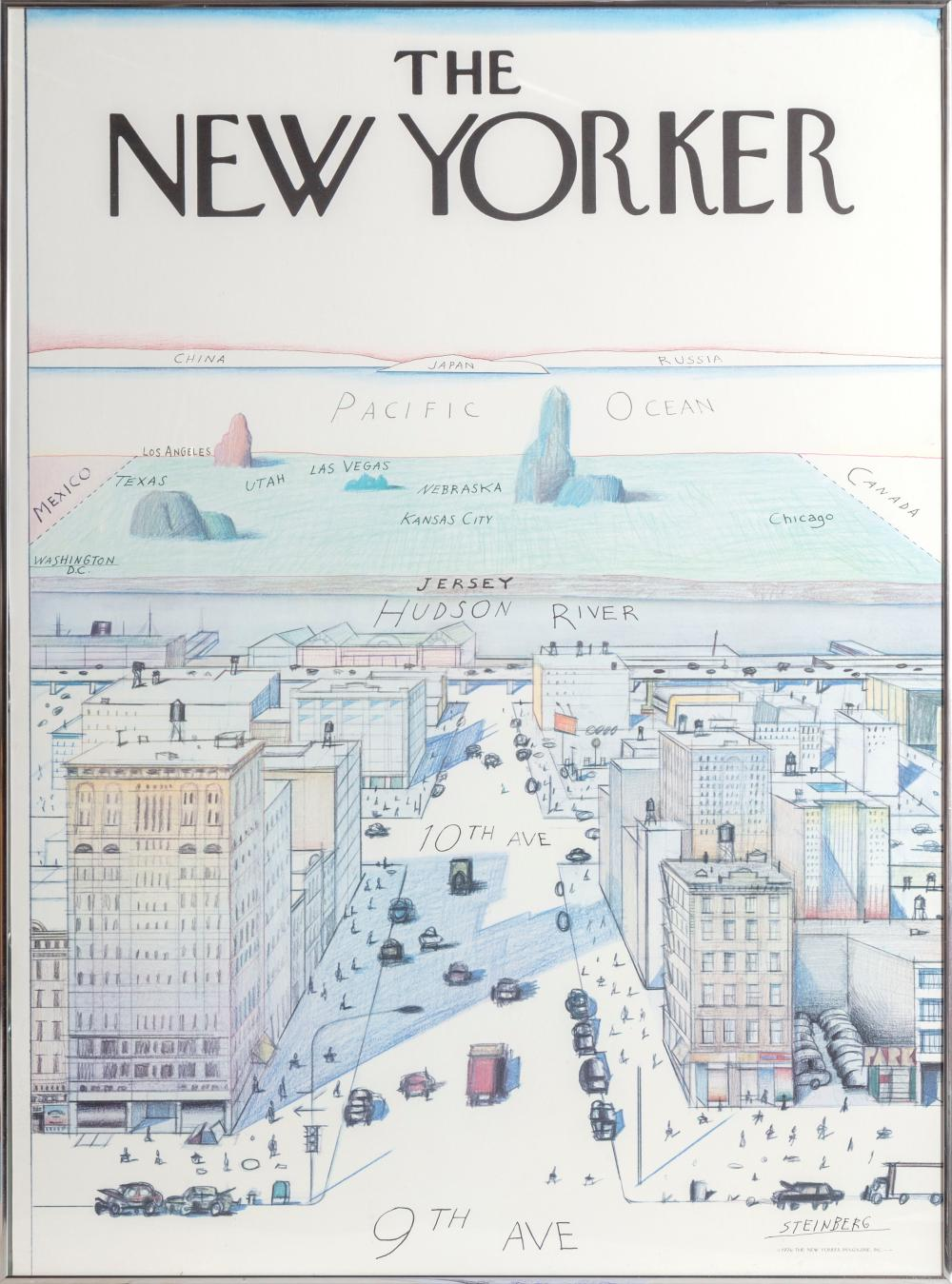 Saul Steinberg, View of the World from 9th Avenue - The New Yorker, Poster