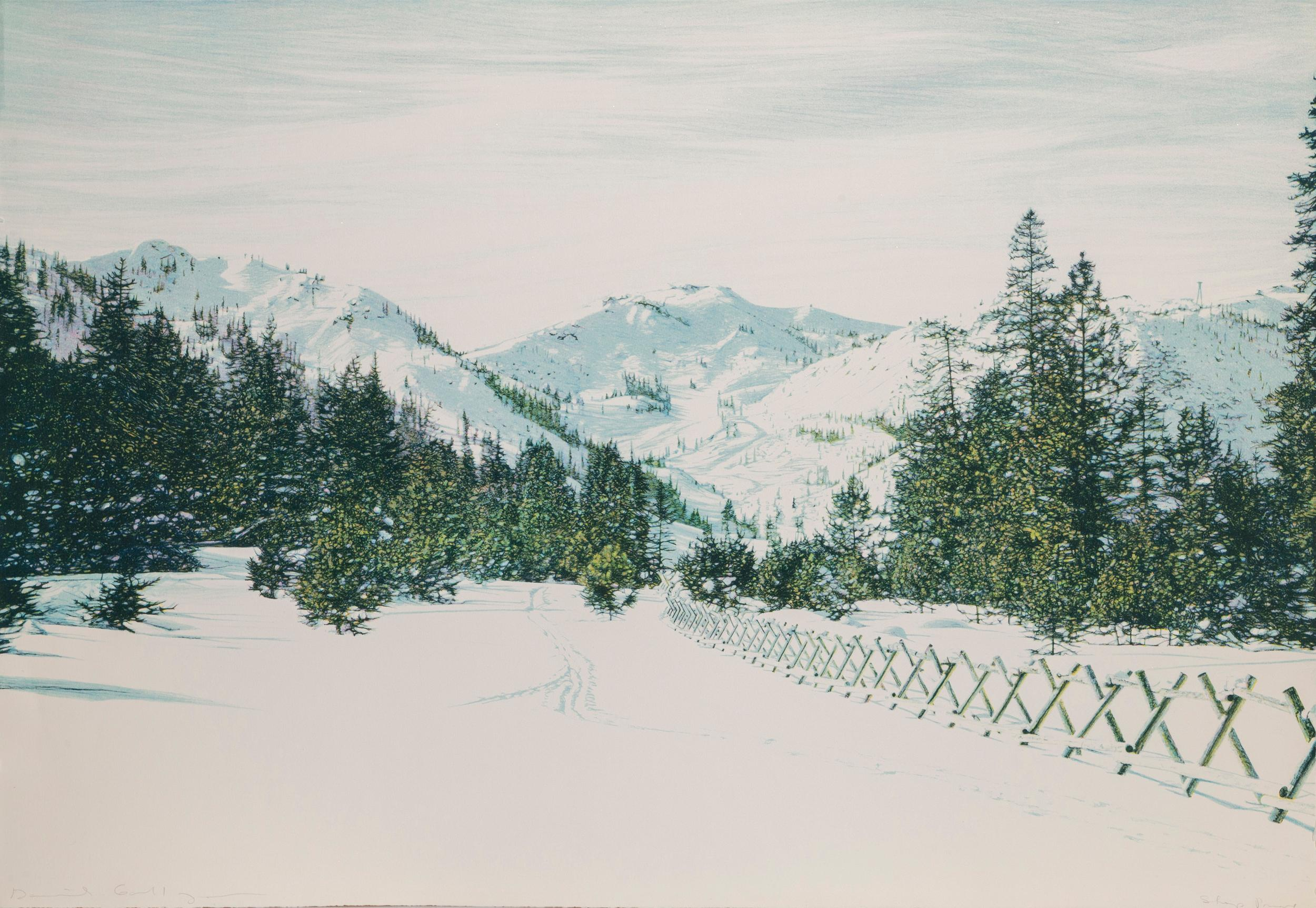 David Maes Gallegos, Squaw Valley, Lithograph