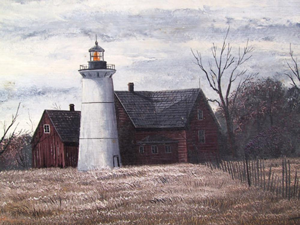 Thomas Kerry, Lighthouse, Oil Painting