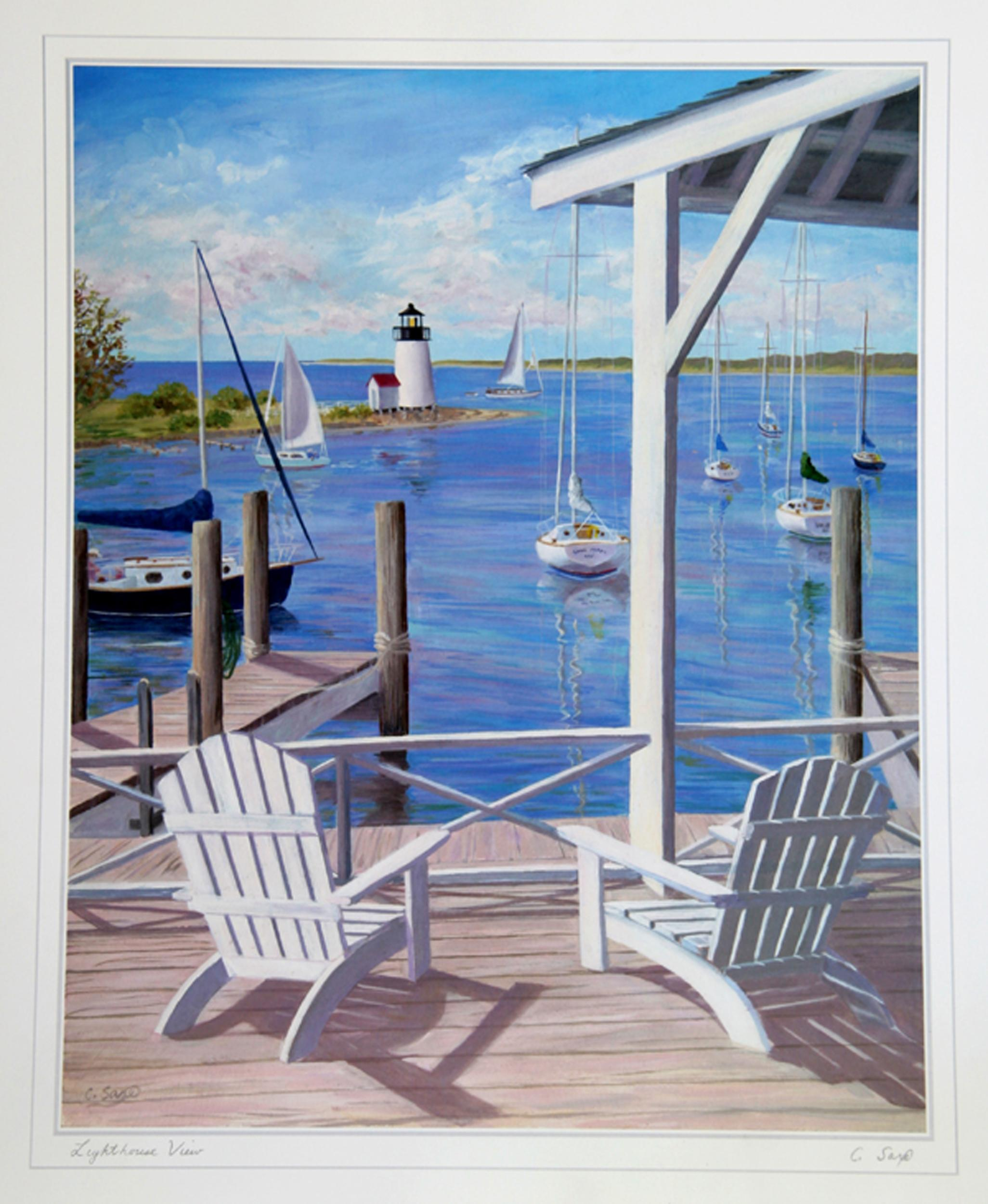 Carol Saxe, Lighthouse View, Poster