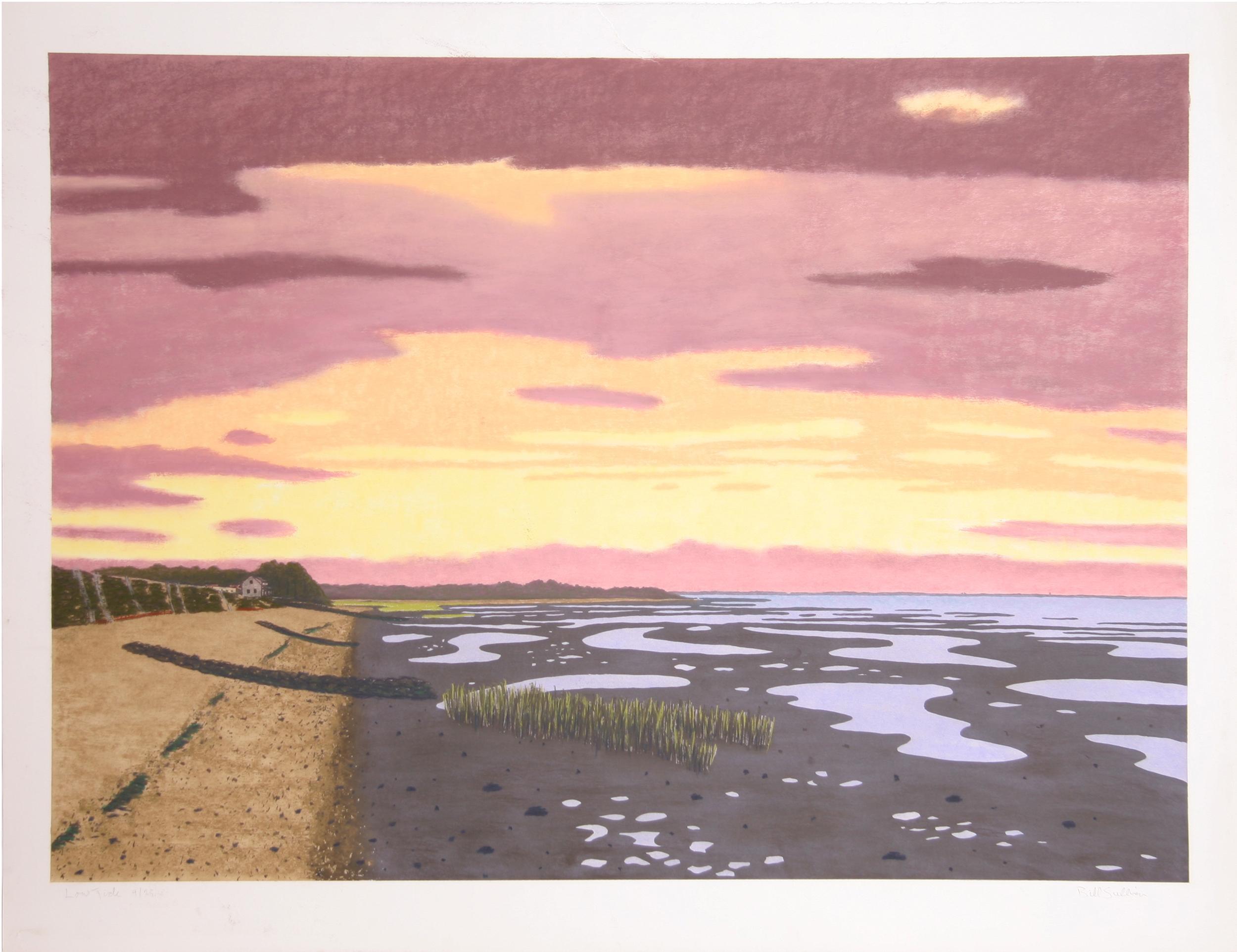 Bill Sullivan, Low Tide 9, Hand Colored Lithograph